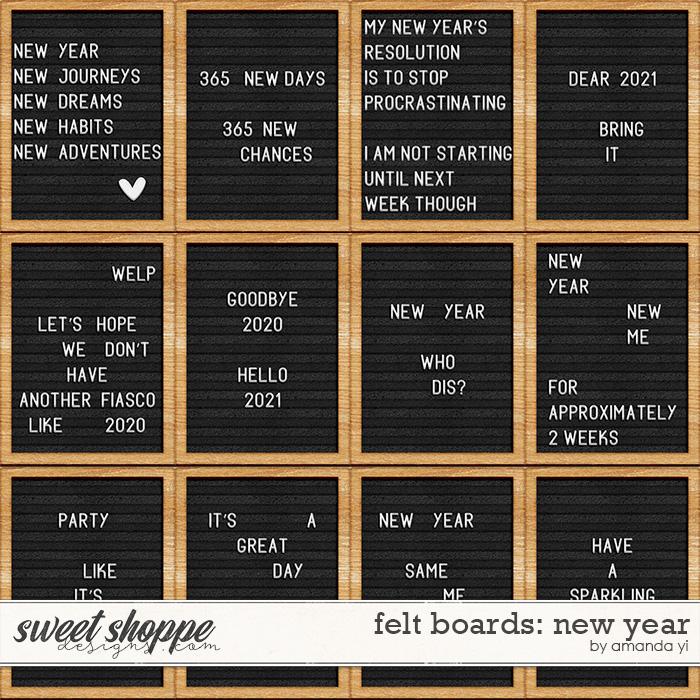 Felt boards: New Year by Amanda Yi