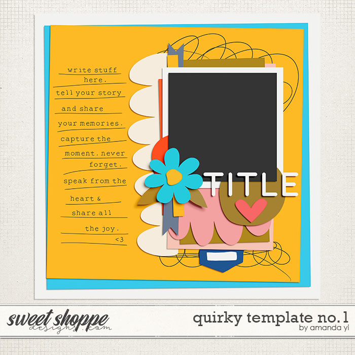 Quirky template no. 1 by Amanda Yi