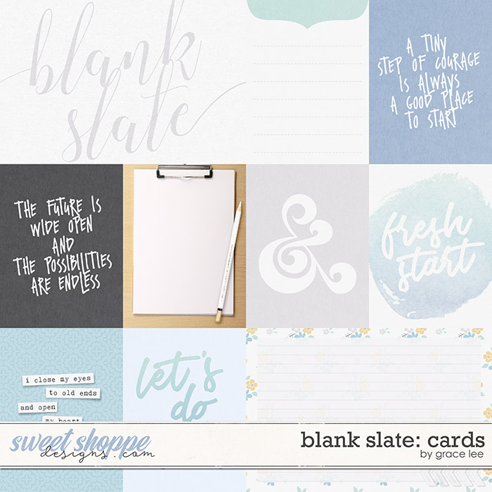 Blank Slate: Cards by Grace Lee