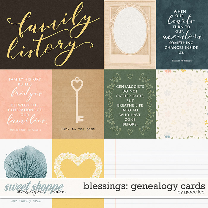 Blessings: Genealogy Cards by Grace Lee