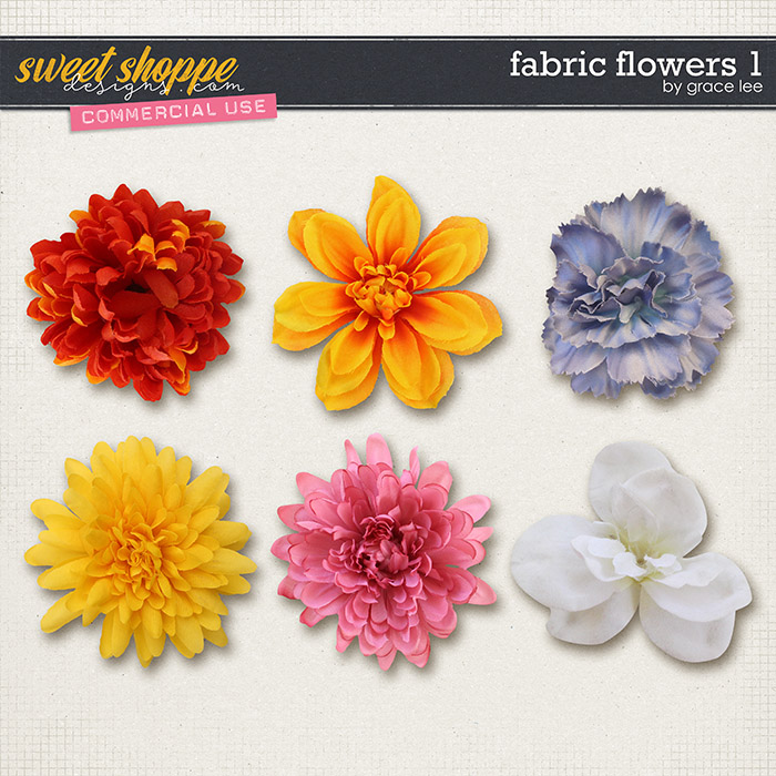Fabric Flowers 1 by Grace Lee