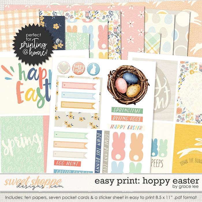 Easy Print: Hoppy Easter by Grace Lee