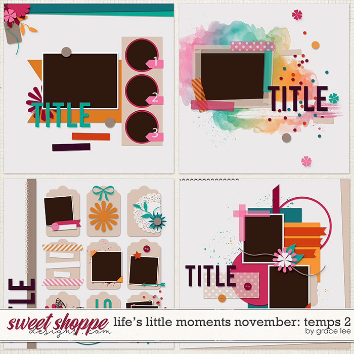 Life's Little Moments November: Templates 2 by Grace Lee