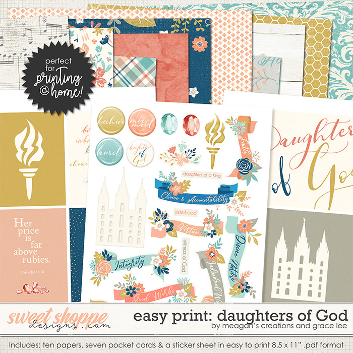 Easy Print: Daughters of God by Grace Lee and Meagan's Creations
