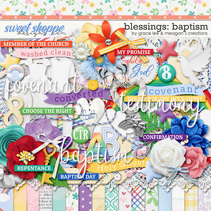 Blessings: Baptism by Grace Lee and Meagan's Creations