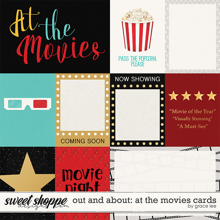 Out and About: At The Movies Cards by Grace Lee