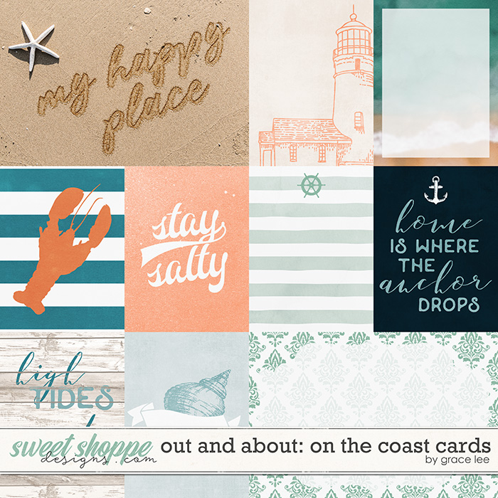 Out and About: On The Coast Cards by Grace Lee