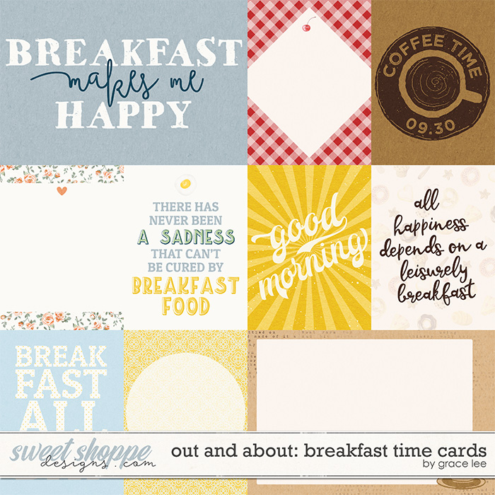 Out and About: Breakfast Time Cards by Grace Lee