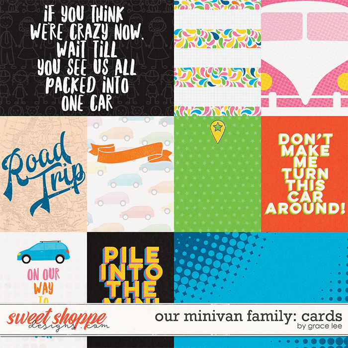 Our Minivan Family: Cards by Grace Lee