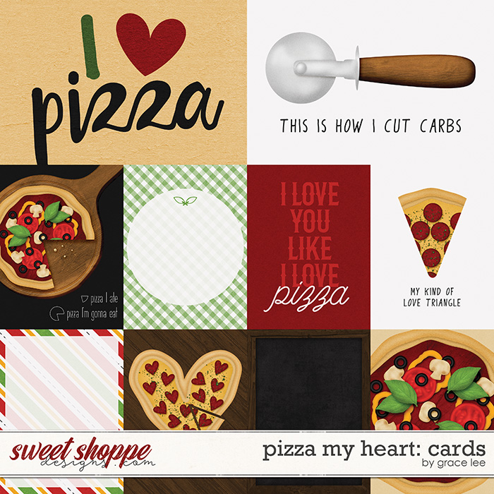 Pizza My Heart: Cards by Grace Lee