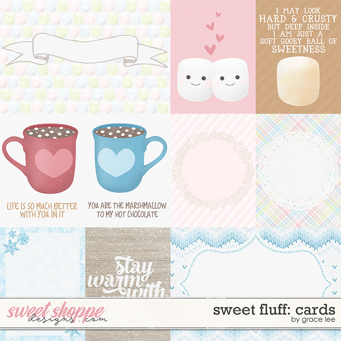 Sweet Fluff: Journal Cards by Grace Lee