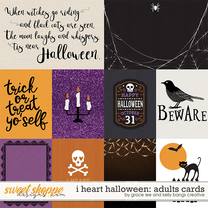I Heart Halloween: Adults Cards by Grace Lee and Kelly Bangs Creative
