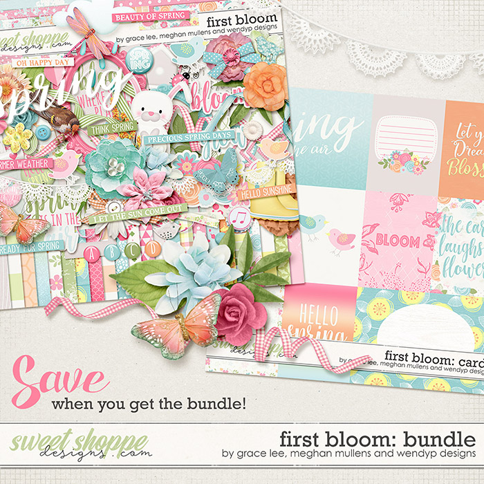 First Bloom: Bundle by Grace Lee, Meghan Mullens, and Wendyp Designs