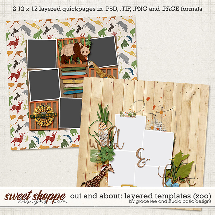 Out and About: Layered Templates (Zoo) by Grace Lee and Studio Basic Designs