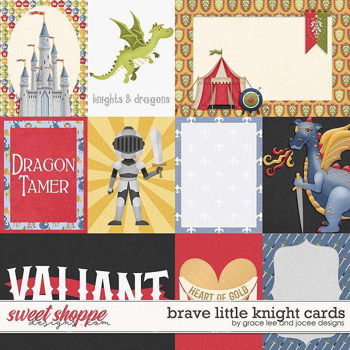 Brave Little Knight: Cards by Grace Lee and JoCee Designs