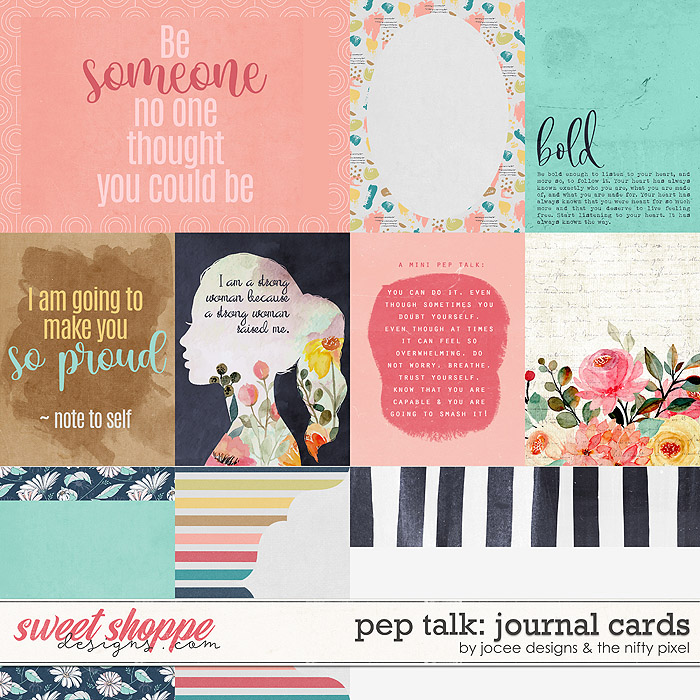 Pep Talk Cards by JoCee Designs and The Nifty Pixel