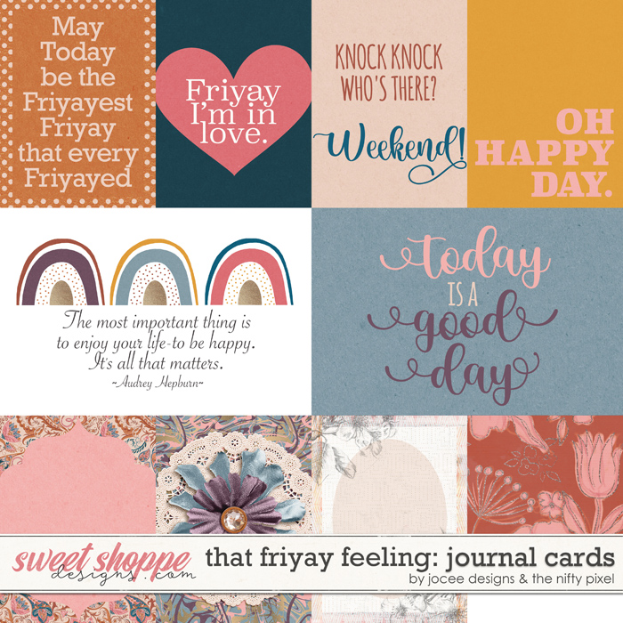 That Friyay Feeling Cards by JoCee Designs and The Nifty Pixel