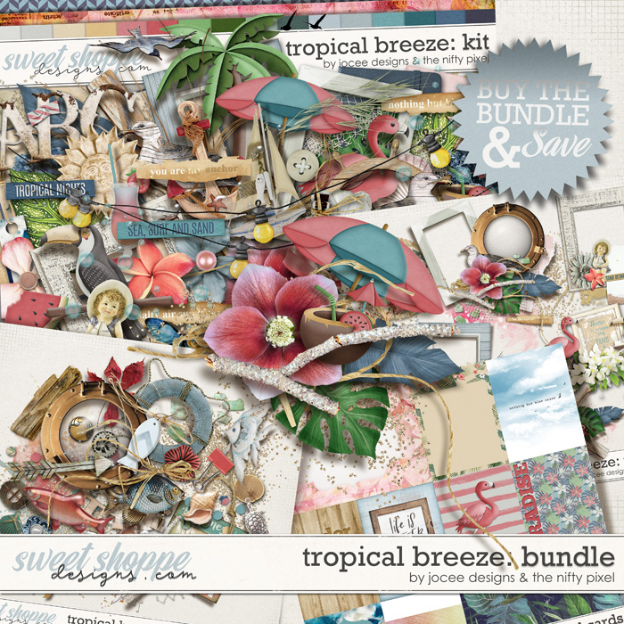 Tropical Breeze Bundle by JoCee Designs and The Nifty Pixel