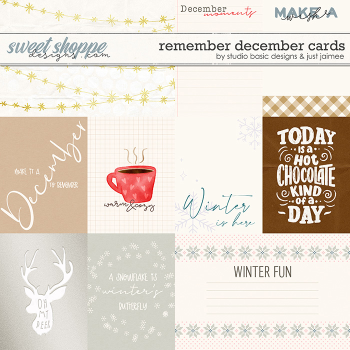 Remember December Cards by Studio Basic and Just Jaimee