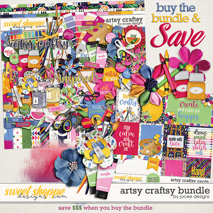 Artsy Craftsy Bundle by JoCee Designs