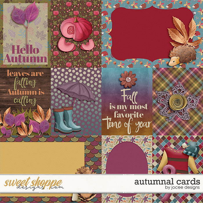 Autumnal Cards by JoCee Designs