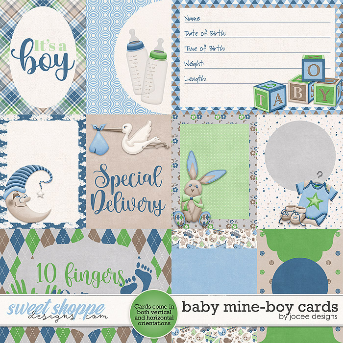 Baby Mine-Boy Cards by JoCee Designs