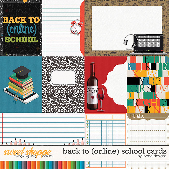 Back to (online) School Cards by JoCee Designs