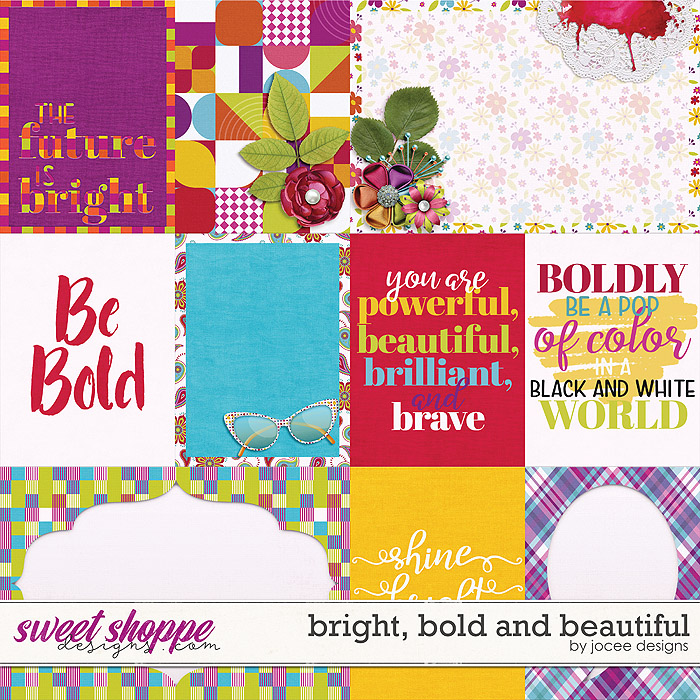 Bright, Bold and Beautiful Cards by JoCee Designs