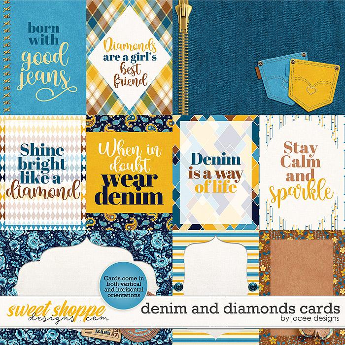 Denim and Diamonds Cards by JoCee Designs