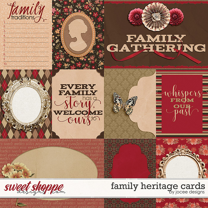 Family Heritage Cards by JoCee Designs