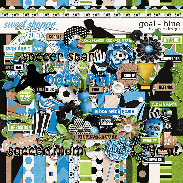 Goal Blue by JoCee Designs