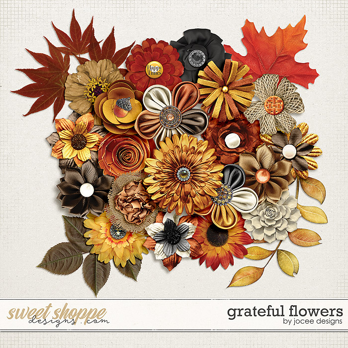 Grateful Flowers by JoCee Designs