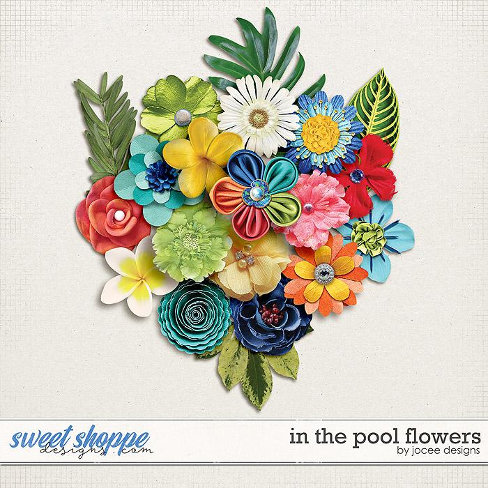 In the Pool Flowers by JoCee Designs