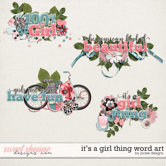 Its a Girl Thing Word Art by JoCee Designs