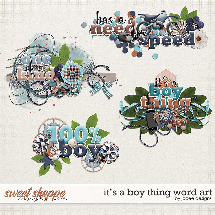 Its a Boy Thing Word Art by JoCee Designs