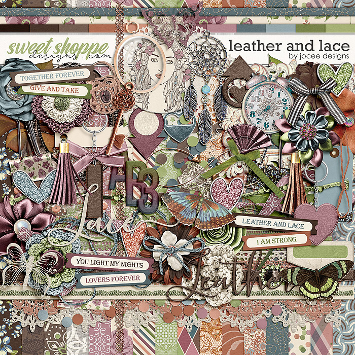 Leather and Lace by JoCee Designs