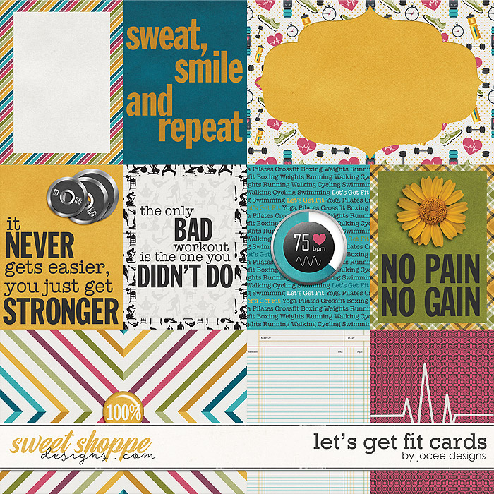 Let's Get Fit Cards by JoCee Designs