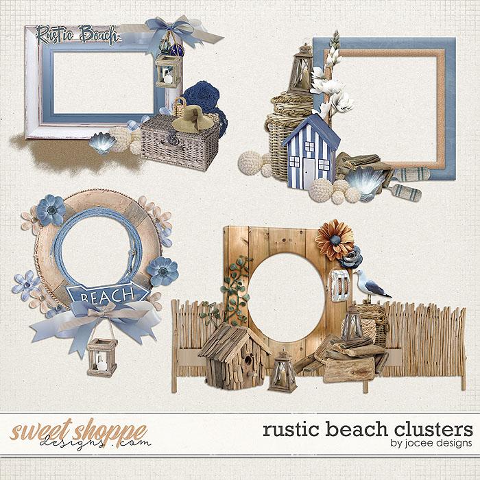 Rustic Beach Clusters by JoCee Designs
