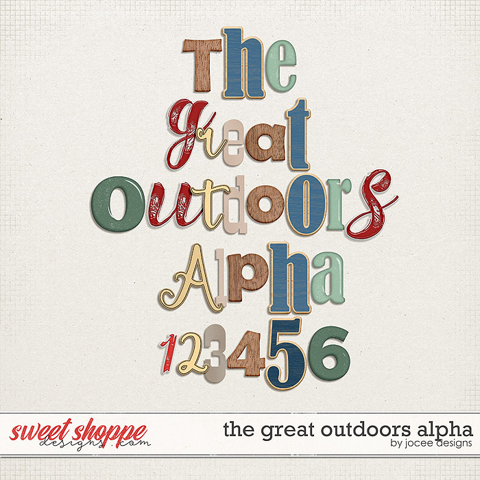 The Great Outdoors Alphas by JoCee Designs
