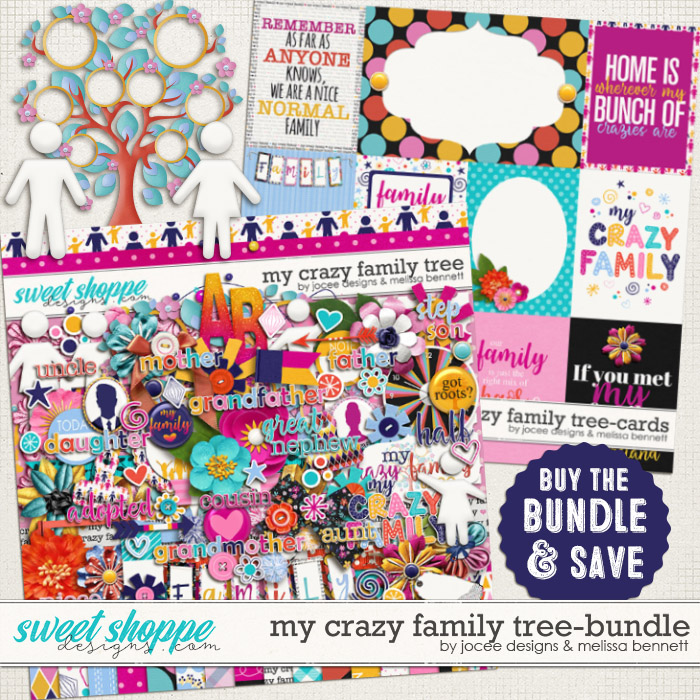 My Crazy Family Tree Bundle by JoCee Designs and Melissa Bennet
