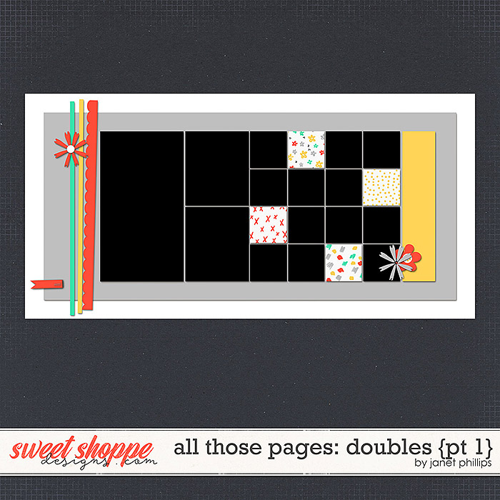 ALL THOSE PAGES: DOUBLES {part 1}  by Janet Phillips