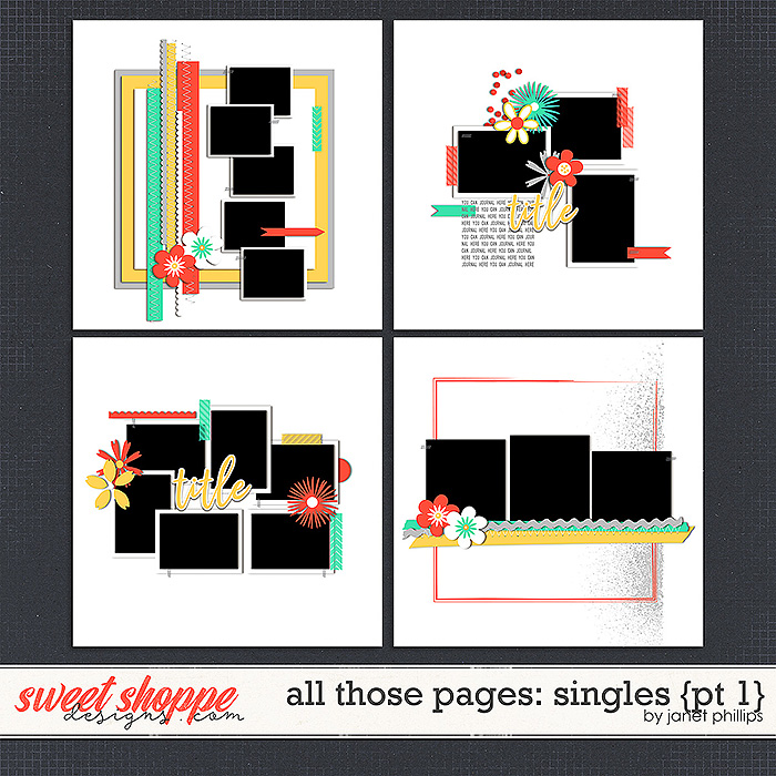 ALL THOSE PAGES: SINGLES {part 1}  by Janet Phillips