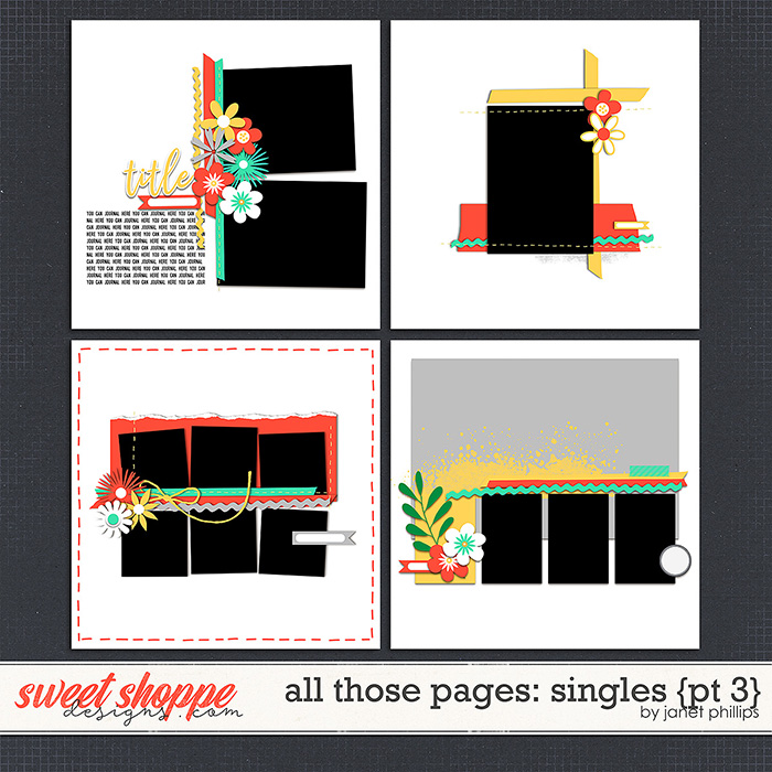 ALL THOSE PAGES: SINGLES {part 3}  by Janet Phillips