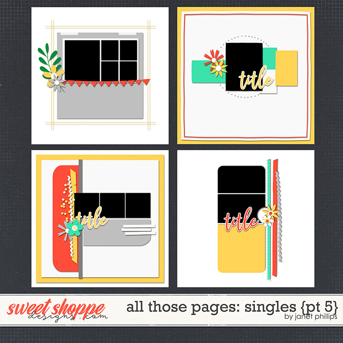 ALL THOSE PAGES: SINGLES {part 5} by Janet Phillips