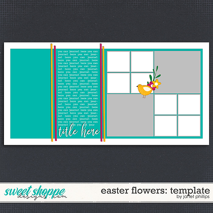 EASTER FLOWERS: TEMPLATE by Janet Phillips