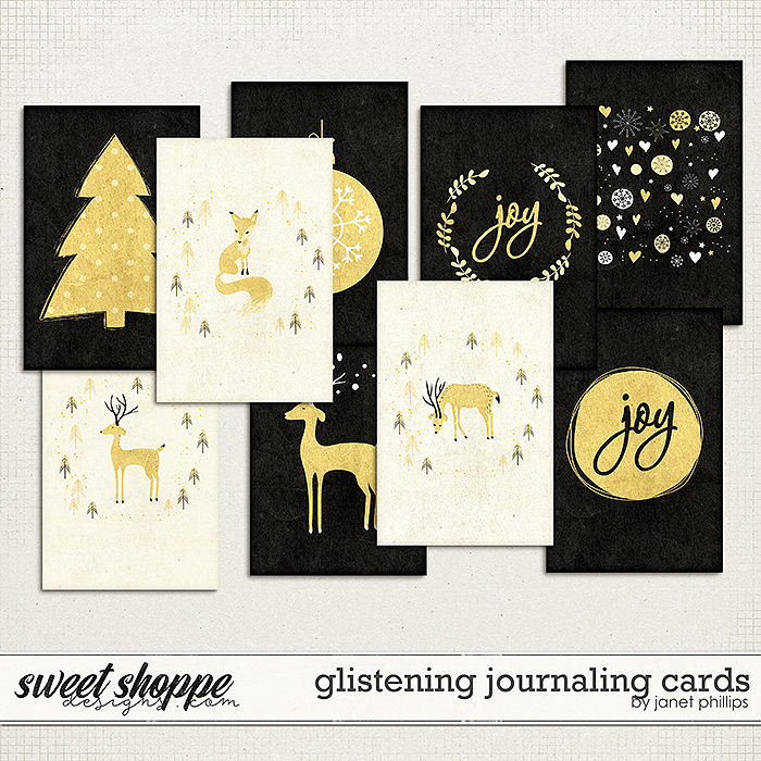 GLISTENING: JOURNALING CARDS by Janet Phillips