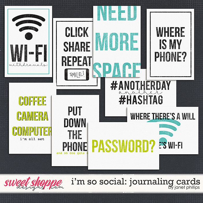 I'm So Social: Journaling Cards by Janet Phillips