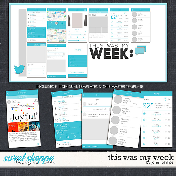 THIS WAS MY WEEK by Janet Phillips