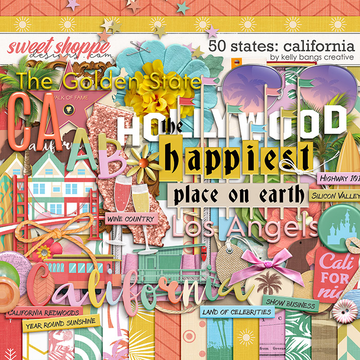 50 States: California by Kelly Bangs Creative