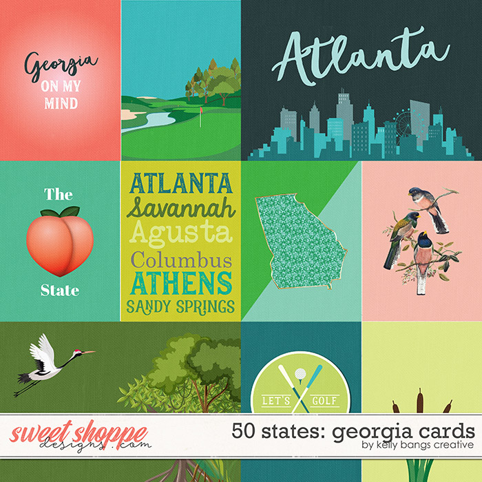 50 States: Georgia Cards by Kelly Bangs Creative